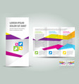brochure triangles colorful polygonal vector image