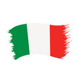 brushstroke painted flag italy vector image