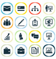 business icons set collection of diagram payment vector image
