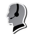 call center person silhouette vector image
