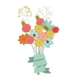 colorful flowers bouquet vector image vector image
