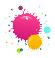 colorful paint splashes background vector image vector image