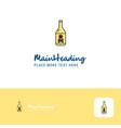 creative drink bottle logo design flat color logo vector image vector image