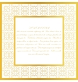 Decorative frame Eastern style design template vector image vector image