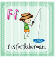 Fisherman vector image vector image