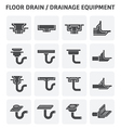 Floor drain icon vector image