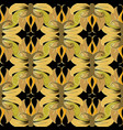 floral baroque seamless pattern floral leafy vector image vector image