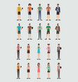 group of people using smartphone vector image vector image