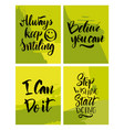 handwritten motivating quote vector image vector image