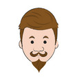 hipster face cartoon vector image