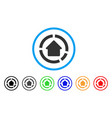 house diagram rounded icon vector image