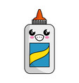 kawaii glue bottle icon vector image vector image