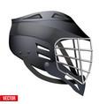 lacrosse helmet side view vector image vector image