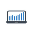 laptop glyph icon vector image vector image