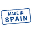 made in Spain blue square isolated stamp vector image vector image