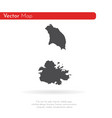 map antigua and barbuda isolated vector image vector image