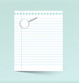 Notebook Paper wiith Magnifying Glass vector image vector image
