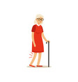 old female character bad knee pain colourful vector image vector image