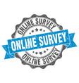 online survey stamp sign seal vector image vector image