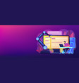 open automation architecture concept banner header vector image