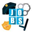 police job vector image