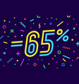 sale -65 percent banner for discount sale vector image