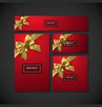 set design elements for holiday package design vector image