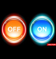 shiny glossy on and off web buttons icons set vector image