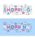 shopping bonus system vector image
