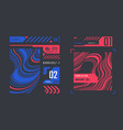 simple futuristic user interface elements vector image