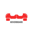 simple red hoverboard logo vector image