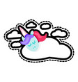 sleeping unicorn with sleep lettering patch vector image vector image