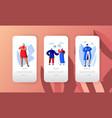 social media network profile character mobile app vector image