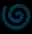 spiral mosaic icon of halftone bubbles vector image vector image