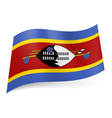 State flag of Swaziland vector image vector image