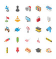 three dimensional pack of objects vector image vector image