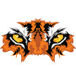 tiger eyes vector image vector image