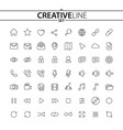 universal outline icons vector image vector image
