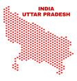 uttar pradesh state map - mosaic of valentine vector image vector image