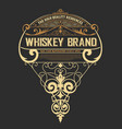 whiskey label western style vector image vector image