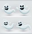 with set funny ghosts vector image vector image