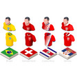 world cup group e jersey set vector image vector image