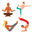 yoga positions mans characters class vector image vector image