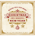 Vintage Christmas Typography vector image