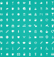 100 cafe icons vector image