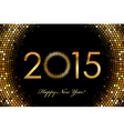 2015 Happy New Year glowing background vector image vector image