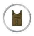 Army bulletproof vest icon in cartoon style vector image vector image