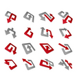 arrow symbols and signs isolated on white backgrou vector image vector image