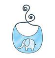 baby bib with elephant vector image