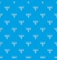 badminton pattern seamless blue vector image vector image